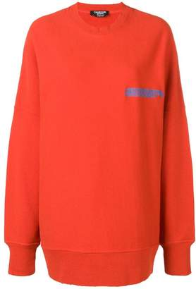 Calvin Klein frayed edge sweatshirt