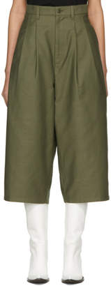 Junya Watanabe Green Wide-Leg Trousers