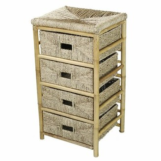 Bay Isle Home Elmira 4 Drawer Bamboo Accent Chest Bay Isle Home