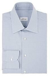 Brioni Men's Checked Cotton Poplin Dress Shirt - Navy