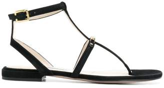 Prada logo t-bar sandals