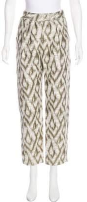 Raquel Allegra High-Rise Brocade Pants w/ Tags