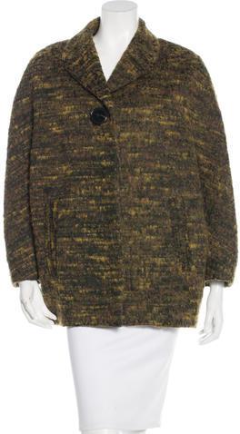 CarvenCarven Notch-Lapel Tweed Coat