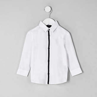 River Island Mini boys white RI crest shirt