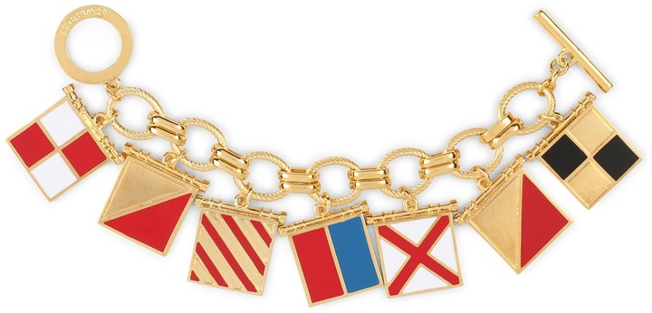 "C. Wonder Nautical Flags ""I Love You"" Charm Bracelet"