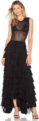 Norma Kamali Sleeveless Ruffle Dress