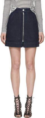 Isabel Marant Navy Denim Penelope Skirt