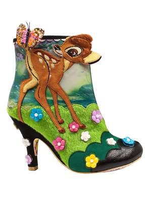 bdf4ec09e79d9 Irregular Choice Disney Bambi and Flower Heeled Ankle Boots