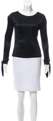 Matthew Williamson Long Sleeve Cutout Top