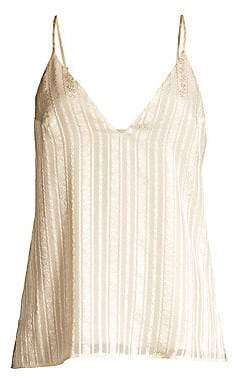 CAMI NYC Women's The Olivia Prairie Metallic Stripe Camisole