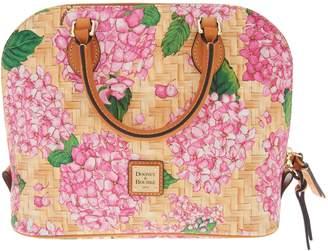 Dooney & Bourke Hydrangea Basket Weave Zip Zip Satchel Handbag