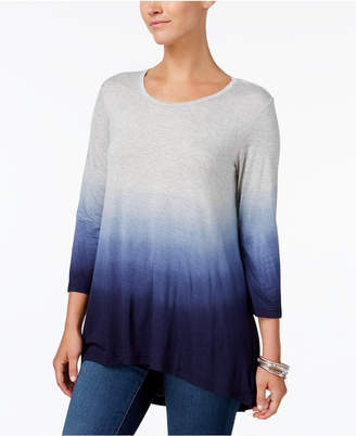 Style&Co. Style & Co Ombre High-Low T-Shirt