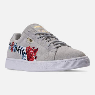 Puma Women's Suede Classic Embroidered Casual Shoes