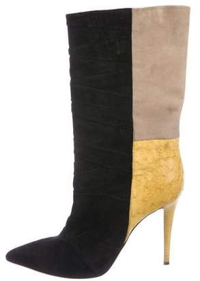 Narciso Rodriguez Colorblock Pointed-Toe Boots