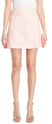 Moschino Boucle Faux Pearl Mini Skirt