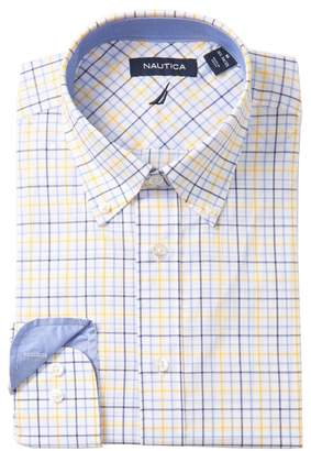 Nautica Classic Fit Wrinkle Free Check Dress Shirt