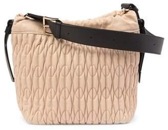 Furla Caos Leather Drawstring Shoulder Bag