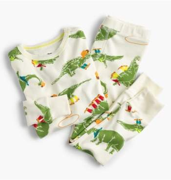crewcuts by J.Crew Cowboy Dinosaur Print Fitted Two-Piece Pajamas