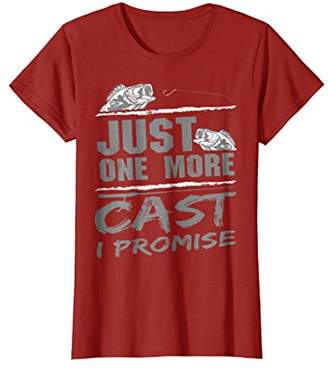 Just One More Cast I Promise Funny Fishing Addicts T-Shirt