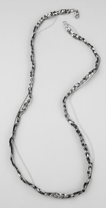 Bop Bijoux Braided Necklace with Ball Chain