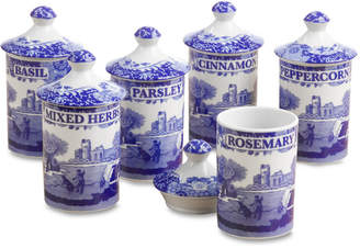 "Spode Blue Italian"" Spice Jars, Set of 6"