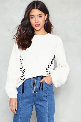 Nasty Gal Ties the Limit Chunky Sweater