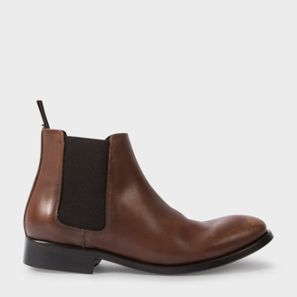 Women's Brown Calf Leather 'Lydon' Chelsea Boots $495 thestylecure.com