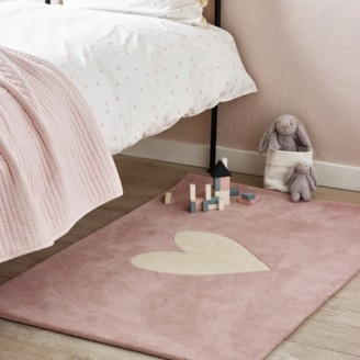 The White Company Heart Tufted Rug, Pink, One Size