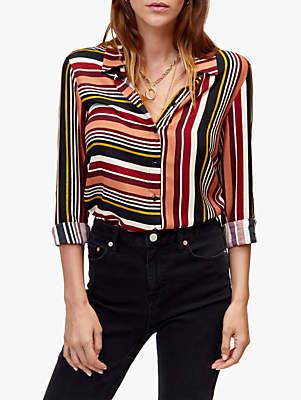 Warehouse Mixed Stripe Shirt, Multi