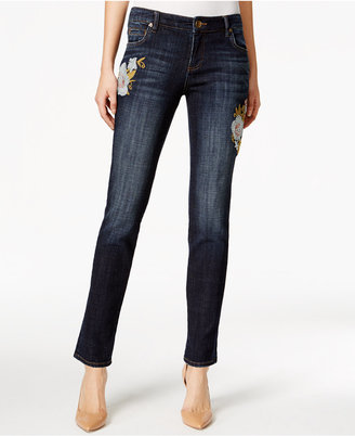 Kut from the Kloth Embroidered Catherine Boyfriend Jeans $94 thestylecure.com