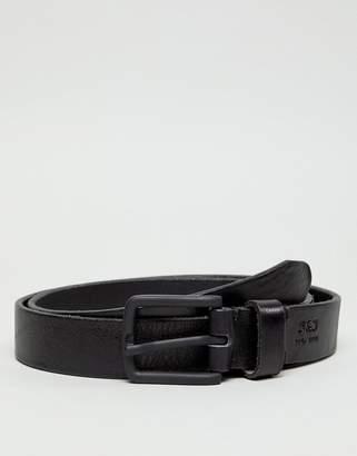 Jack and Jones leather belt in black