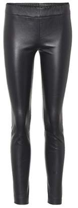 The Row Docarr leather leggings