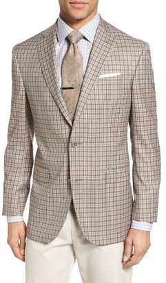 Men's David Donahue Connor Classic Fit Check Wool Sport Coat $695 thestylecure.com