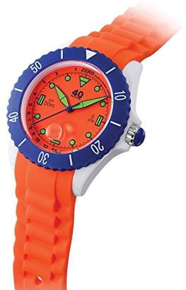 40Nine Quartz Plastic and Silicone Casual Watch