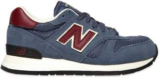 New Balance Mesh & Faux Suede Running Sneakers