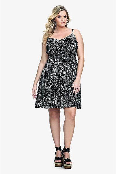 Natural Animal Torrid Black & Print Challis Tank Dress