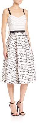 Shoshanna MIDNIGHT Tricia Clip Bow Dress $660 thestylecure.com