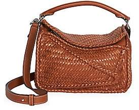 Loewe Women's Small Puzzle Woven Leather Bag