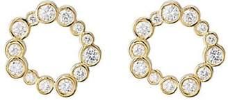 Pamela Love Fine Jewelry Women's Paillette Front-Facing Hoop Earrings - Gold