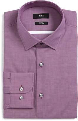 BOSS Jerris Slim Fit Easy Iron Check Dress Shirt