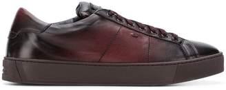 Santoni aged style low-top sneakers