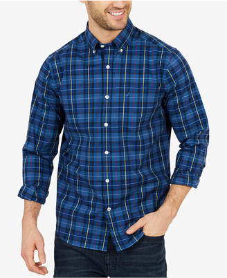 Nautica Men's Classic Fit Plaid Button-Down Shirt