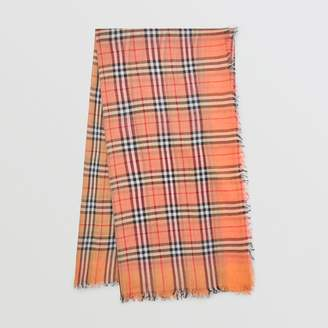 Burberry Two-tone Vintage Check Cotton Square Scarf