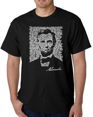 Los Angeles Pop Art Men's t-shirt - Abraham Lincoln - Gettysburg address