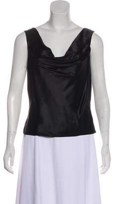 Lela Rose Silk Sleeveless Top