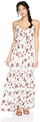 Jack by BB Dakota Women's Kogan Pretty Meadows Printed Maxi Dress