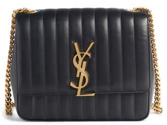 Saint Laurent Large Vicky Leather Crossbody Bag