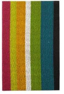 """Chilewich Bold Stripe Indoor/Outdoor Shag Mat, 18"""" x 28"""""""
