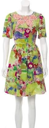 Peter Som Embellished Silk Dress