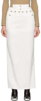 Kreist White Denim Sailor Skirt